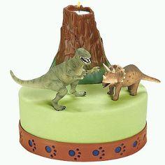 Dinosaur and Volcano Cake Toppers Dinosaur Cake Pops, Dino Cake, Dinosaur Birthday Cakes, 3rd Birthday, Hippie Cake, Volcano Cake, How To Make Wedding Cake, Dinosaur Party Supplies, Pear Cake