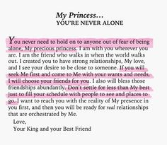 My Princess, you're never alone