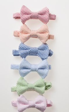 Little Boy Bowtie  Striped Seersucker  Red by littlegentleman, $15.00