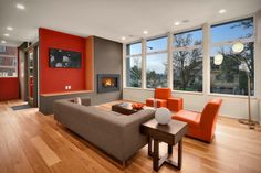 THIS IS WHAT I WANT MY HOUSE!!  David Foster Architects Madrona House, Seattle living room