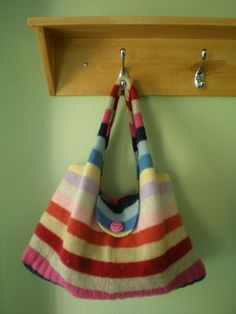 This purse is made from a sweater!   Recycle & Reuse