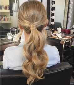Pin by mikayla jones on hair Wedding Ponytail Hairstyles, Bridal Ponytail, Dance Hairstyles, Diy Hairstyles, Bridesmaids Hairstyles, Bridal Hair, Bridesmaid Hair, Prom Hair, Wedding Hair And Makeup