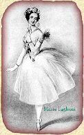 Maria Taglioni - first ballerina to dance on point