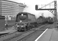BB no.34054 'Lord Beaverbrook'. Vauxhall. 13 April 1963