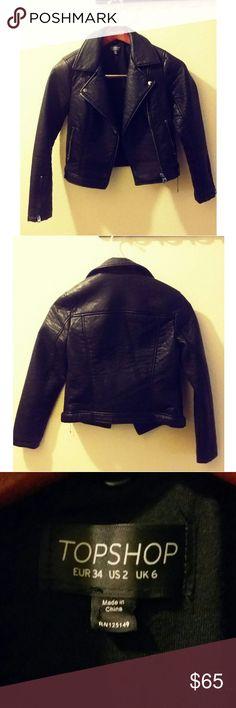 Beautiful rider black jacket Never worn. New but no tag. Topshop Jackets & Coats