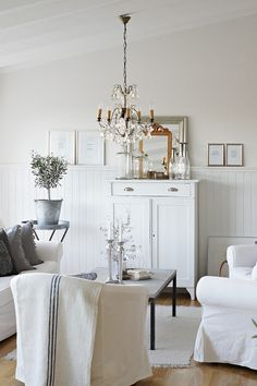 25 Most Charming Modern Shabby Chic Home Decoration Ideas Cottage Living, My Living Room, Home And Living, Living Spaces, Nordic Living, Modern Shabby Chic, Shabby Chic Homes, Shabby Chic Decor, Vibeke Design