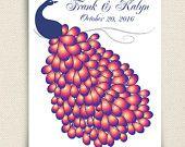 Wedding Guest Book - The Modwik - A Peachwik Interactive Art Print - 150 guest sign in - Modern Tree Guestbook. $65.00, via Etsy.
