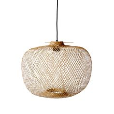 Luminaire - Suspensions - Suspension Bamboo / Ø 42 x H 30 cm - Bloomingville - Naturel - Bambou Bamboo Pendant Light, Bamboo Light, Bamboo Lamps, Luminaire Design, Lamp Design, Pendant Lamp, Pendant Lighting, Lighting Sale, Round Pendant