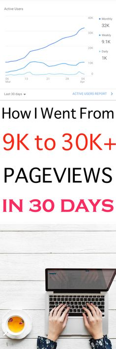 THIS is how I finally got my blog traffic to increase (and still on the rise!). Thanks to this pinning strategy, I'm on 30K plus monthly pageviews. #pinterest #blogging #blog #traffic #afflink