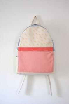 backpack, colorful backpack, school, school supplies