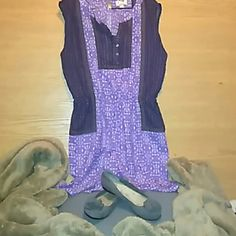 Cute shorts romper!! Brand new!!  100% polyester romper. Very fine, airy fabric and feel.  Numerous colors purple black tan some white.  Shoes sold separately.. TANZARA Other