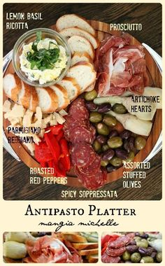 Holiday Antipasto Platter - Use delicious, fresh and store bought ingredients to make an impressive antipasto platter to bring to your next holiday party ~ www.mangiamichell...