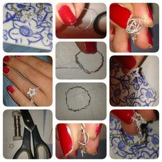 DIY-Ring mit Stern selber machen