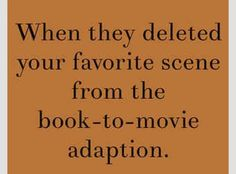 Did you mean: changed the entire movie from the book and kept only the characters names the same? Yes, yes they did.