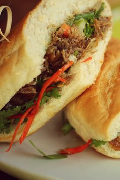 """Vietnamese baguette """"Banh mi"""" with fresh chili"""