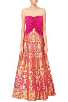 Reeti Arneja Pink Banarasi Lehenga Set #happyshopping #shopnow #ppus