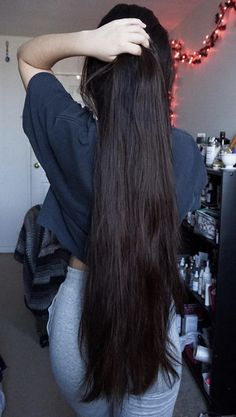 Long Ponytail Hairstyles, Long Hair Ponytail, Long Ponytails, Indian Hairstyles, Beautiful Long Hair, Gorgeous Hair, Long Indian Hair, Long Dark Hair, Silky Hair