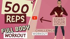 500 rep full body workout | 500 reps full body workout | full body challenge | home workout - YouTube