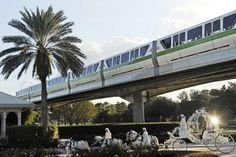 Cinderella's Coach + Monorail = A Disney World Wedding you will always remember!
