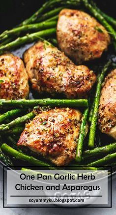 4 Points About Vintage And Standard Elizabethan Cooking Recipes! This 20 Minute One Pan Garlic Herb Chicken And Asparagus Is Full Of Rich, Buttery Herb Flavors With Both Chicken And Asparagus All Cooked In One Skillet For Easy Prep And Cleanup. Chicken Asparagus, Asparagus Recipe, Lemon Chicken, Mozzarella Chicken, Balsamic Chicken, Chicken Sausage, Garlic And Herb Chicken, Salsa Chicken, White Chicken