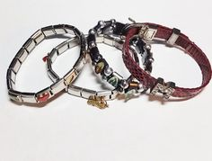 Lot of 4 Charm Bracelets for Repurpose/Upcycle by TheSparklingGallery on Etsy