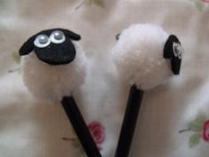 Cute Sheep Pom Pom Pencil - Folksy
