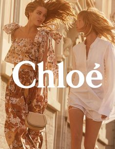 CHLOÉ Spring Summer 2017 Ad Campaign - Luna Bijl and Ukrikke Hoyer - Charlotte Wales Chloe Fashion, Fashion Shoot, Editorial Fashion, Swag Fashion, Fashion Advertising, Fashion Marketing, Moda Floral, Vintage Magazine, Campaign Fashion