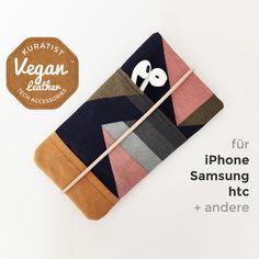 Handytaschen - Handytasche • iPhone • Galaxy • Vegan • Graphic - ein Designerstück von Kuratist bei DaWanda