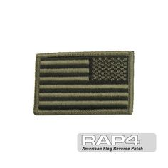 American Flag Reverse Patch (Foliage Green) by Rap4. $14.46. These high quality flag patches provide quick identification and are offered with hook & loop sewn to the back for quick on/off ability. These can be attached to uniforms helmets packs web-gear vests etc. Size - 3.25  x 1.9
