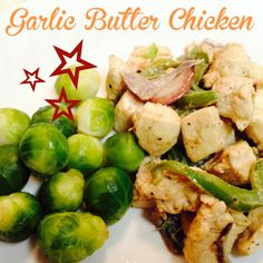 Two to three boneless chicken breasts, cut into 1″ cubes One large onion, sliced into strips One bell pepper, sliced into strips 1/3 stick butter 1/3 cup heavy cream 1 large or 2 small cloves garlic – minced (or one TBSP garlic powder) Salt & pepper to taste Olive oil for sauteing