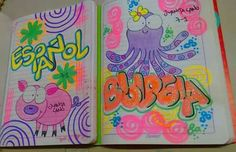 School Hacks, Diy And Crafts, Doodles, Notebook, Lily, Kawaii, Stamp, Lettering, Creative