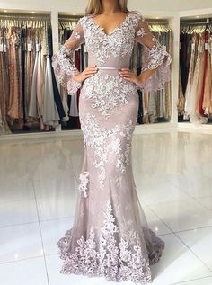 Glamorous Sweetheart Spaghetti Straps Mermaid Evening Dresses Elegant Lace Appliques Prom Party Dresses Formal Dresses I likeitbuyit. Muslim Evening Dresses, Prom Dresses Long With Sleeves, Women's Evening Dresses, Cheap Prom Dresses, Prom Party Dresses, Party Gowns, Dress Prom, Dress Long, Bride Dresses