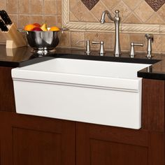 "SKU: 932458 30"" DAMALI ITALIAN FIRECLAY FARMHOUSE SINK - WHITE Starting at $595.95"