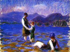 William James Glackens, Lake Bathers, 1920