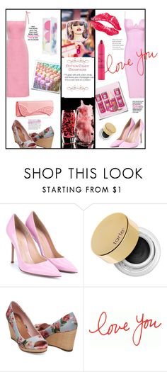 """""""Sweet Tarte"""" by hellamela ❤ liked on Polyvore featuring Christian Louboutin, ZOEVA, Jessica Simpson, Gianvito Rossi, tarte, TOMS, toms, summerstyle, Louboutin and cottoncandy"""