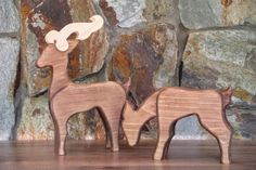 Wooden deer - Wooden reindeer - Christmas decorations - Christmas home decor - Christmas gifts - Unique Christmas decorations - Holiday gift