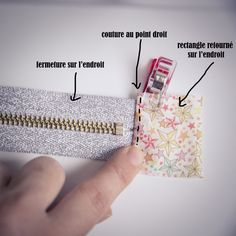 Tuto sewing: the multi-pocket Candy pouch , Techniques Couture, Sewing Techniques, Sewing Hacks, Sewing Tutorials, Sewing Tips, Diy Pochette, Couture Sewing, Coin Couture, Leftover Fabric