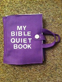 My Bible Quiet Book: Felt Busy Book for Ages 3 and Up on Etsy, $100.00