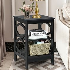 This A multifunctional nightstand is suitable for various rooms that need storage shelves or display space. Made of selected quality and spray-painted finish board, this side table is waterproof with durable construction. The smooth surface of the end table prevents children and the elderly from injuring. And it is a perfect decoration with elegant and stylish design. And it is easy to assemble with instructions and required accessories.