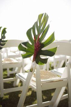 Stunning aisle decor idea for a tropical/beach wedding! Floral Wedding, Wedding Flowers, Tropical Wedding Decor, Wedding Bouquets, Wedding Favors, Wedding Aisle Decorations, Wedding Ideas, Wedding Blog, Beach Decorations