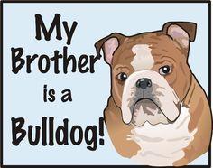 Bulldog  Diaper Shirt or Tee by rhoadworks on Etsy, $11.00