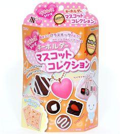 cute DIY clay charms making kit chocolates Japan 1