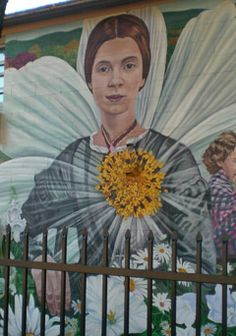 Because I could not stop for Death...  Emily Dickinson mural at West Cemetery, Amherst