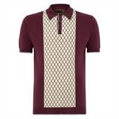 Madsen Diamond Pol Shirt A retro bowling-inspired fine knit polo with a distinct diamond jacquard front panel, the Madsen is bold but sophisticated. From the Merc W1 Collection. 100% cotton