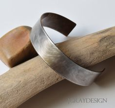 Accessory Cuff Stainless Steel Light texture and by JGrayDesign