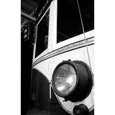 black and white vintage trolley 8x10 documentary photograph, Past Time