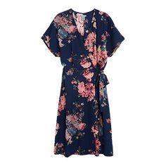 Mönstrad+klänning+-+Lindex