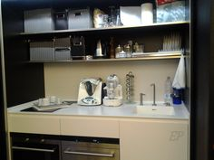 kitchen Milan Navigli, Hidden Kitchen, Custom Cabinets, Ground Floor, Double Vanity, Living Area, Kitchen Cabinets, Loft, Flooring
