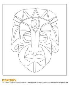 Image result for tiki mask cardboard template