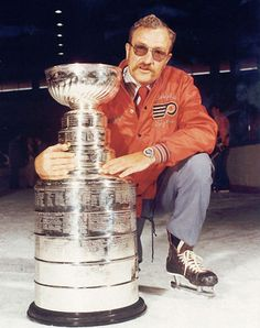 Fred Shero with the Stanley Cup - Philadelphia Flyers Coach HockeyGods strives to untie hockey fans from across the globe covering all types of hockey imaginable. Flyers Stanley Cup, Running The Gauntlet, Street Hockey, Flyers Hockey, Philadelphia Sports, Nfl Fans, National Hockey League, Band Posters
